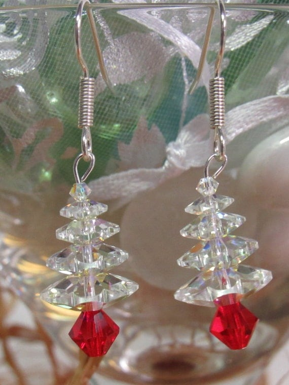 Swarovski Crystal Earrings White CT-02