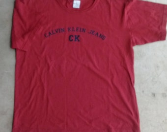 Calvin Klein 90's T-Shirt Vintage CK Jeans Spellout Shirt