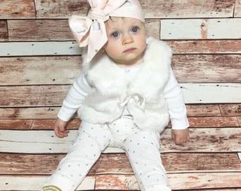 Swan Headwrap- Headwrap; Swan Headband; Swan Bow; Baby Headband; Newborn Headband; Infant Headband; Toddler Headband; Girls Adult Headband