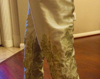 Silk embroidered pants,sequence embroidered pants on sale