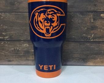 Chicago Bears Yeti Etsy