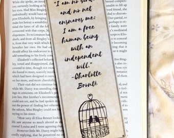 Jane Eyre Charlotte Bronte Quote Bookmark
