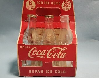 Rare 1940's Coca Cola Paper Bottle Carrier, Extremely Rare Coke Memorabilia