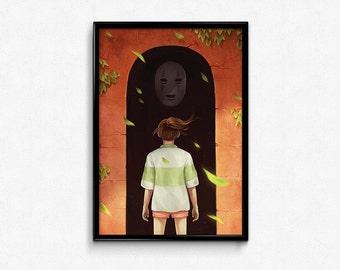 Spirited Away No Face Poster Print
