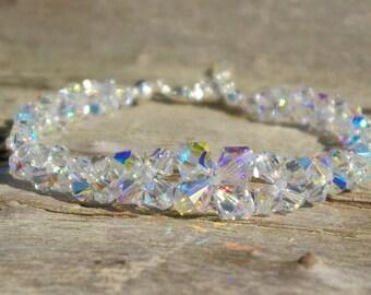Swarovski Crystal Bracelet Clear AB Bracelet Bridal Crystal Swarovski Clear AB Bracelet Swarovski Crystal AB Bracelet Wedding Bracelet