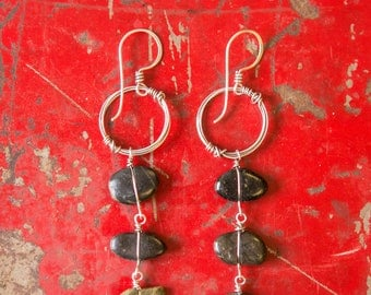 Lashed Stone Earrings