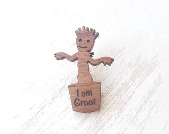 Groot brooch  I am groot badge groot tie pin  Baby Groot jewellery Groot gotg2 guardians of the galaxy we are groot marvel inspired groot