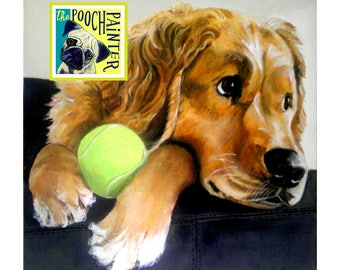 Dog portrait, Pet portrait, Dog Painting, Dog Art - acrylic painting on stretched canvas, from you photo