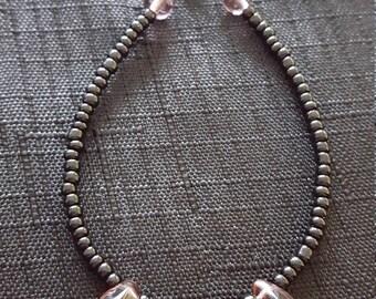 Glass Tear Drop beaded bracelet