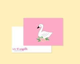 Swan postcard / weheartconfetti