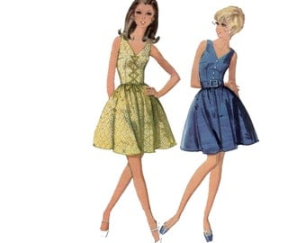 60s Fit and Flare Dress pattern Corset Dress pattern, vintage 36-27-38  Mini Dress pattern Sundress pattern mccalls 9477