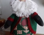 FATHER CHRISTMAS  in GREEN...patchwork