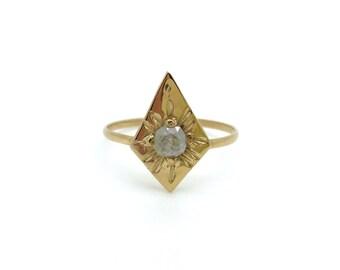 H A N D M A D E / ARUN diamond radiance ring from The Rajah Press / 14k with a rose cut diamond