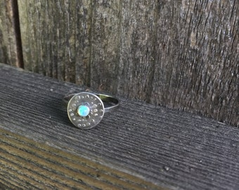 Sterling Silver and Opal Galaxy Ring