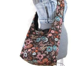 Large Crossbody Bag - Vegan Bag - Hobo Shoulder Bag - Crossbody Hobo Bag - Women's Crossbody Bag - Slouch Bag - Boho Bag - Bohemian Bag