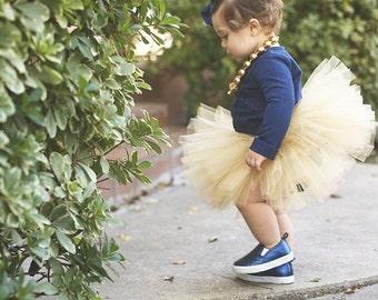 Gold Tutu and Gold Headband - Tutu - Baby Tutu - Gold Tutu - Baby Tutu - Gold Tutu Set - Tutu Dress - Newborn Tutu - Toddler Tutu