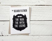 The Beard Father, Man Myth Legend, Father's Day Card - Dad Pop Father Grandfather Grandad, Greeting Card, 4.5x6.25 folded card with envelope