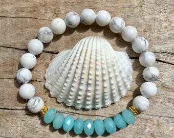 boho bracelet, bohemian jewelry, healing jewelry, aqua jade bracelet, yoga bracelet