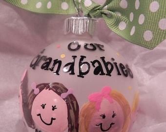 Custom Grandparent Ornament - Hand Painted