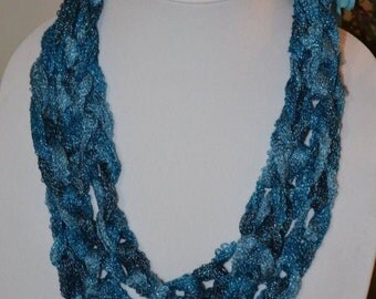 Blue Chain Scarf/Necklace - Many Colors Available!
