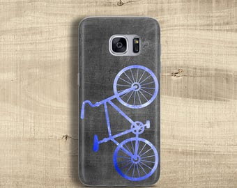 Bicycle case for Samsung Galaxy S8 Case for Galaxy S8+ Case for Galaxy S7 Edge Clear case for bike lovers Slim rubber case black blue