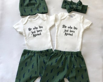 He Who Has Just Been Named and She Who Has Just Been Named - 3 Piece Outfits