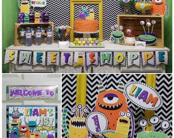 90% OFF | Monster Birthday Party | Monster Party Decorations | Halloween Birthday | Monster Party Printable | Epic Parties by REVO