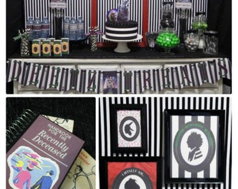 85% OFF | Beetlejuice Party Printable | Beetlejuice Decorations | Birthday | Party | Betelgeuse | Any Age | Epic Parties by REVO