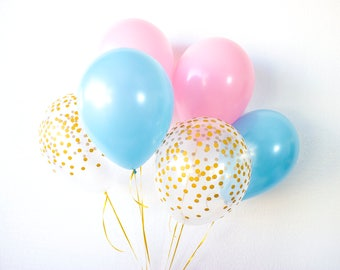 Twins Baby Shower, Baby Shower Balloons, Balloon Centerpiece, Baby Girl, Baby Boy, Confetti Balloons, Gender Reveal Balloons, It's Twins