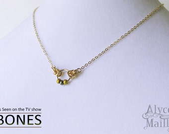 14kt Gold Filled Necklace - As Seen on Bones - Gold Beaded Necklace - Gold Necklace