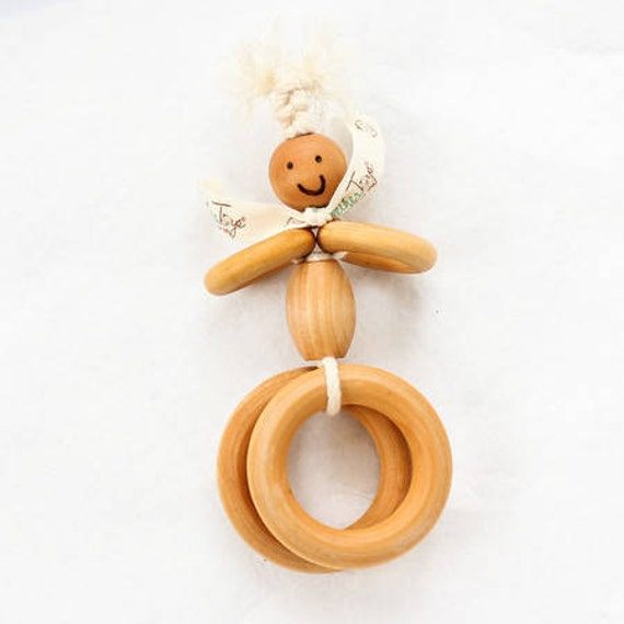 ROUND STANLEY™ - TeetherToys - Teething - Organic Toys - Wooden Toys - Baby Shower - Wooden Teether- Pretend Play