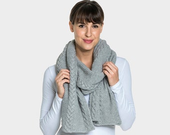 Alpaca Wool Blend Cable Scarf