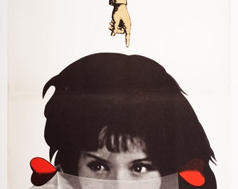 Movie Poster, Original 1960s Poster, Collage, Vintage Movie Poster, Vintage Wall Art, Czech Poster, Film Poster