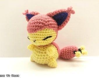 Crochet Skitty Inspired Chibi Pokemon