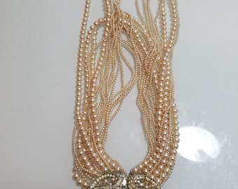 FREE  SHIPPING  Vintage Multi  Pearl Strands with DIAMONDS