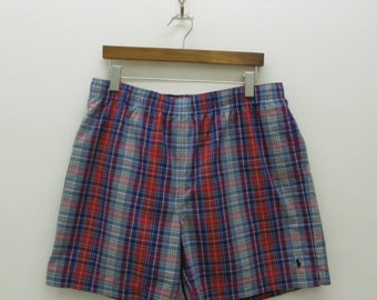 Polo Sport Shorts Vintage Polo Sport Ralph Lauren Shorts 90s Polo Sport Vintage Beachwear Shorts Mens Size XL