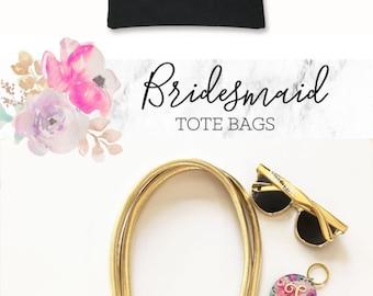 Bridesmaid Tote Bags Monogram Tote Bags Personalized Tote Bags Gold Tote Bags Bridesmaid Gift ...