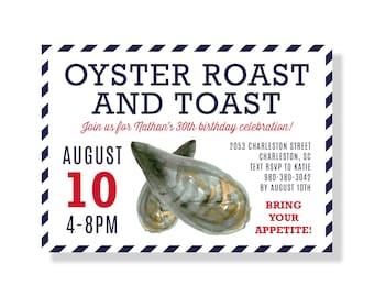 Oyster Roast Invite Etsy