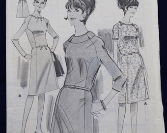 Vintage Sewing Pattern for a Woman's Dress in Size 12 - Woman's Weekly B306