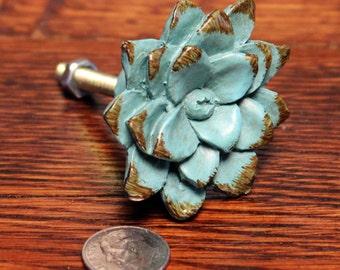 Shabby Knobs - Shabby Chic Furniture - Shabby Dresser Knob - Drawer Pull - Dresser Drawer Knobs - Cabinet Knob - Flower Knob - Shabby Chic