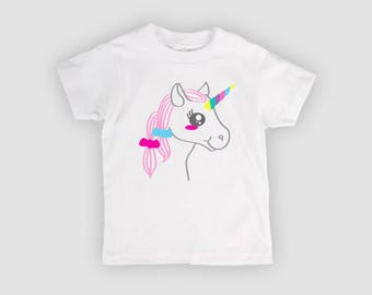 T-shirt My Little Unicorn chil teenager fashion gift kawaii by decartonetdetoiles