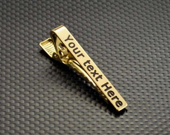 Gold Tie Clip, Groomsmen Gift, Custom Tie Clip, Personalized Tie Clip, Tie Clip, Custom Men's Gift, Personalized for him, Custom Tie Clip