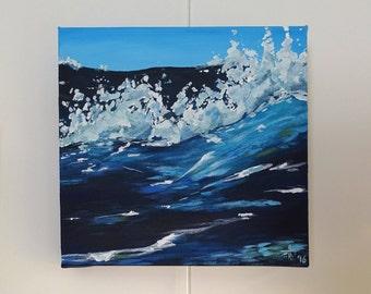 Rolling Sea Original Acrylic Painting 30x30cm