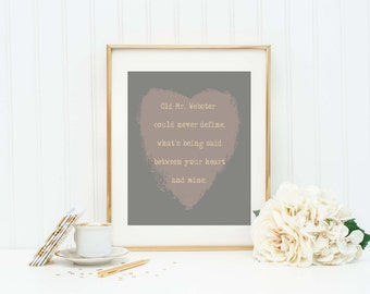 When You Say Nothing At All - Alison Krauss - Love Quote - Relationship Gift - Love Art Print - Love Song Lyrics - Love Letter - Love Sign