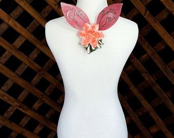 Pink Fascinator Pixie Fairy Wings