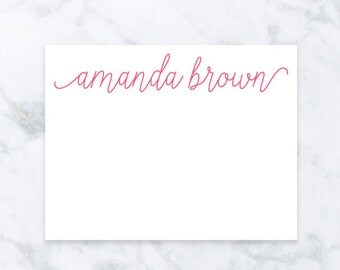 Thank You Cards - Personalized Stationary - Thank You Gift - Personalized Girlfriend Gift - Gift for Bestfriend - Wedding Thank You Cards