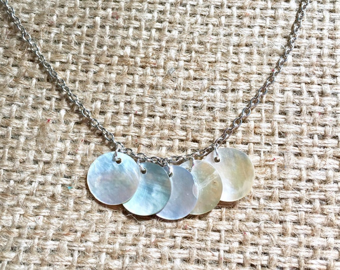 Abalone Choker, Abalone Necklace, Shell Necklace, Boho Choker, Abalone Jewelry, Mermaid Necklace, Mermaid Choker, Abalone Coin Choker
