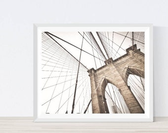 Brooklyn bridge art, New york print, Brooklyn bridge art print, Brooklyn Bridge, Architecture Print, Architecture Poster, Architecture Art