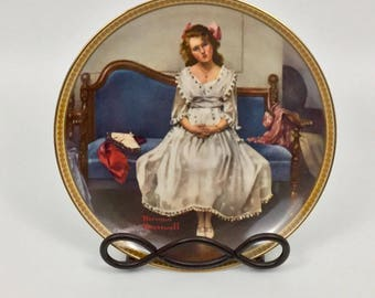 """Norman Rockwell's """"Waiting At The Dance"""" Collector's Plate"""