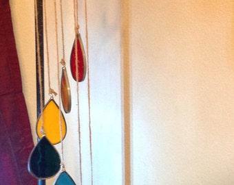 Stained Glass Rainbow - Hanging Spiral Sun Catcher - Indoor / Outdoor